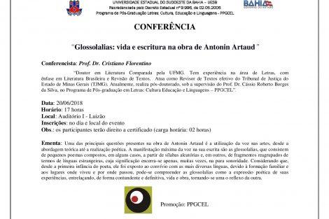 """""""Glossolalias vida e escritura na obra de Antonin Artaud"""""""