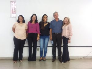 Primeira Banca de Defesa de Dissertação do PPGEO/UESB – Examinadores e mestranda