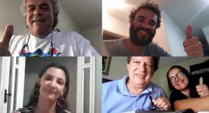 Defesa de dissertação de forma remota da discente Eliana Vieira dos Santos