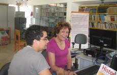 Aula de Informática no Curso de Alfabetização Digital