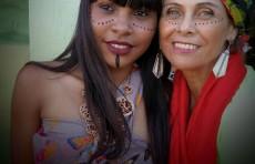 Aluna do CEI Capinal e Paula Ferreira