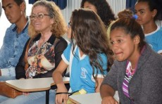 Profa. Maria Lourdes e alunos do CEI Cabeceira