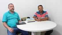 Professor Luizdarcy de Matos  e o professor Jorge Anderson Paiva Ramos, coordenador e vice-coordenador do Mestrado.